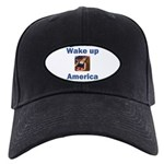 Wake Up America Black Cap with Patch