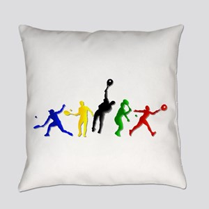 Tennis Players Everyday Pillow