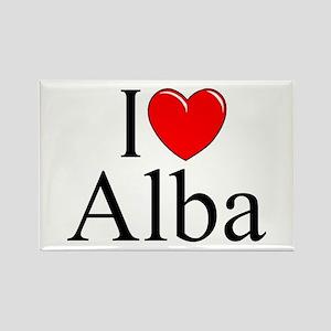 """""""I Love (Heart) Alba"""" Rectangle Magnet"""