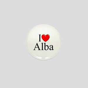 """I Love (Heart) Alba"" Mini Button"