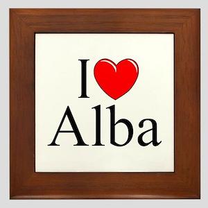 """""""I Love (Heart) Alba"""" Framed Tile"""