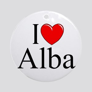 """I Love (Heart) Alba"" Ornament (Round)"