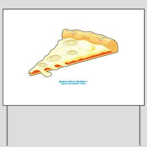 Kawaii Onion Pizza Slice Yard Sign