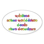 Prevent Noise Pollution Oval Sticker