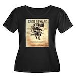 Clyde Barrow Women's Plus Size Scoop Neck Dark T-S