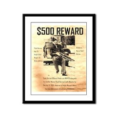 Clyde Barrow Framed Panel Print