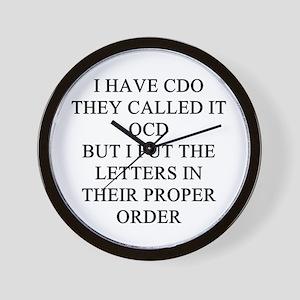 Obsessive Compulsive Disorder Wall Clock