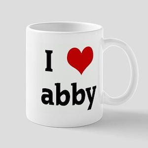I Love abby Mug