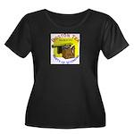 Wyoming Women's Plus Size Scoop Neck Dark T-Shirt