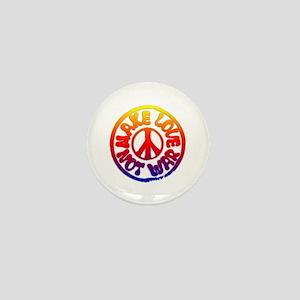 Make Love Not War Mini Button