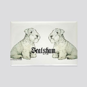Sealyham Terrier Dog Portrait Rectangle Magnet