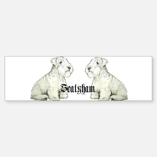 Sealyham Terrier Dog Portrait Bumper Bumper Bumper Sticker