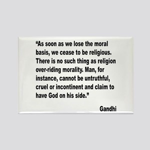 Gandhi Moral Basis Quote Rectangle Magnet