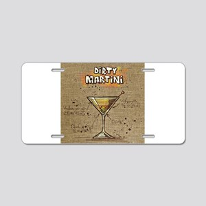Dirty Martini (Canvas) Aluminum License Plate