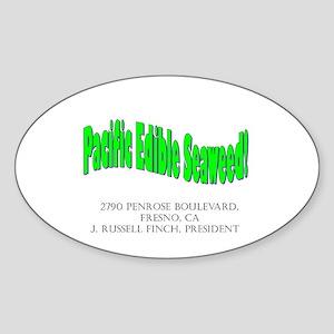 Pacific Edible Seaweed Oval Sticker