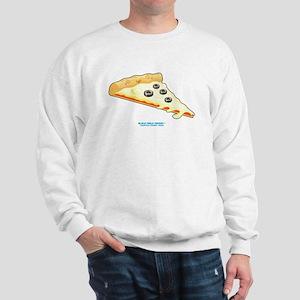 Kawaii Olive Pizza Slice Sweatshirt