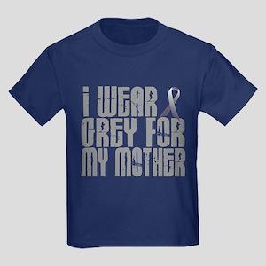 I Wear Grey For My Mother 16 Kids Dark T-Shirt