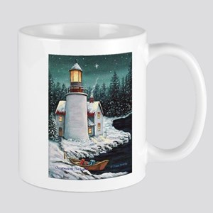 Christmas Lighthouse Mug
