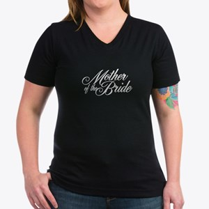 Mother of the Bride Women's V-Neck Dark T-Shirt