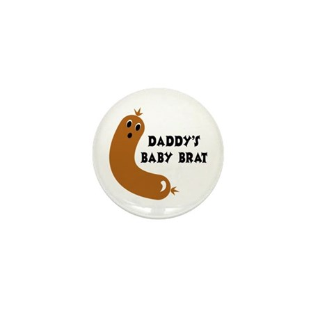 Daddy's Baby Brat Mini Button (10 pack)