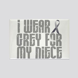 I Wear Grey For My Niece 16 Rectangle Magnet