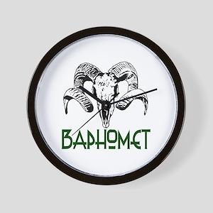 BAPHOMET SKULL Wall Clock
