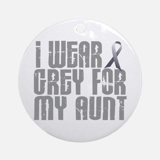 I Wear Grey For My Aunt 16 Ornament (Round)