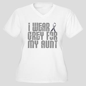 I Wear Grey For My Aunt 16 Women's Plus Size V-Nec