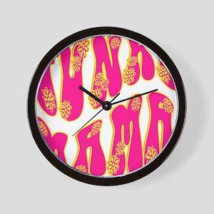Girls Rawk Wall Clock