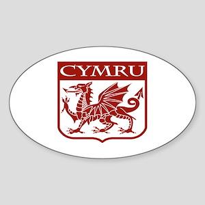 CYMRU Wales Oval Sticker