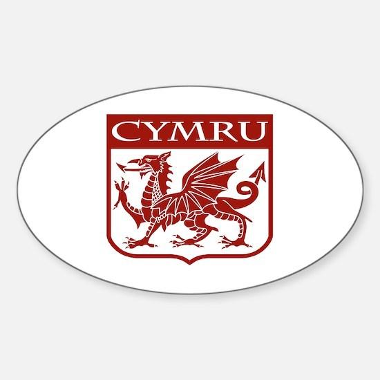 CYMRU Wales Oval Decal