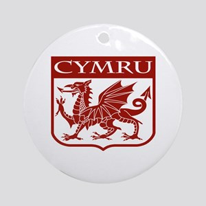 CYMRU Wales Ornament (Round)