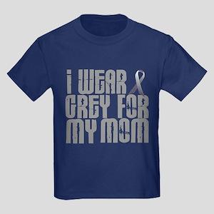 I Wear Grey For My Mom 16 Kids Dark T-Shirt