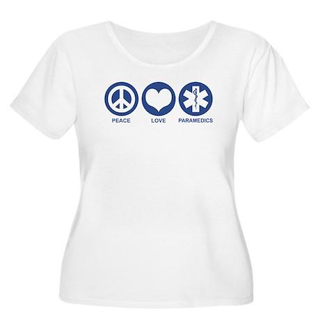 Peace Love Paramedics Women's Plus Size Scoop Neck
