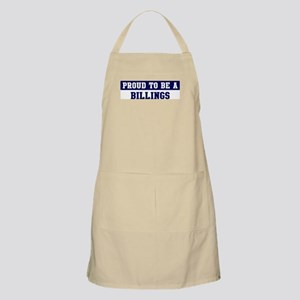 Proud to be Billings BBQ Apron