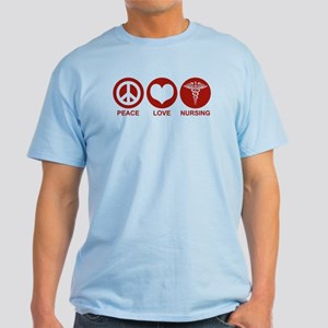 Peace Love Nursing Light T-Shirt