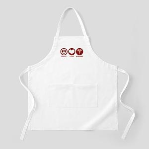 Peace Love Nursing BBQ Apron
