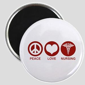 Peace Love Nursing Magnet