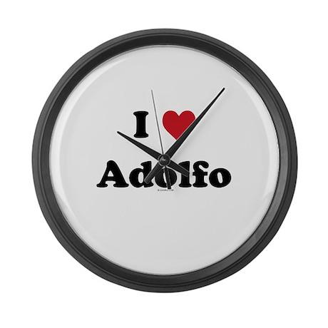 I love Adolfo Large Wall Clock