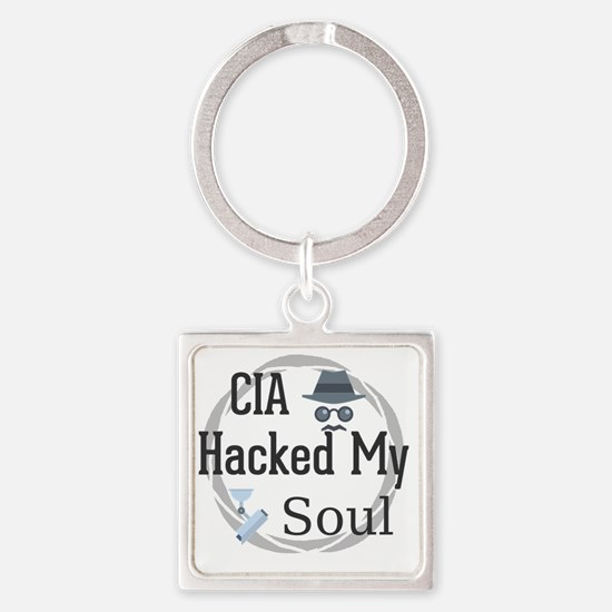 Funny Privacy Square Keychain