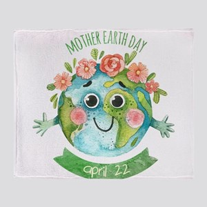 mother earth day Throw Blanket