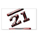 21st Birthday Gifts Rectangle Sticker 10 pk)