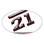 21st Birthday Gifts Oval Sticker (50 pk)