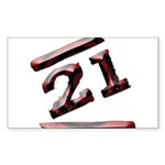 21st Birthday Gifts Rectangle Sticker