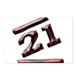 21st Birthday Gifts Postcards (Package of 8)