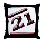 21st Birthday Gifts Throw Pillow