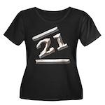 21st Birthday Gifts Women's Plus Size Scoop Neck D
