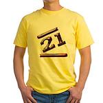 21st Birthday Gifts Yellow T-Shirt