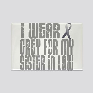 I Wear Grey For My Sister-In-Law 16 Rectangle Magn