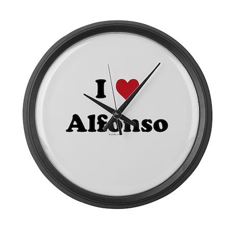 I love Alfonso Large Wall Clock